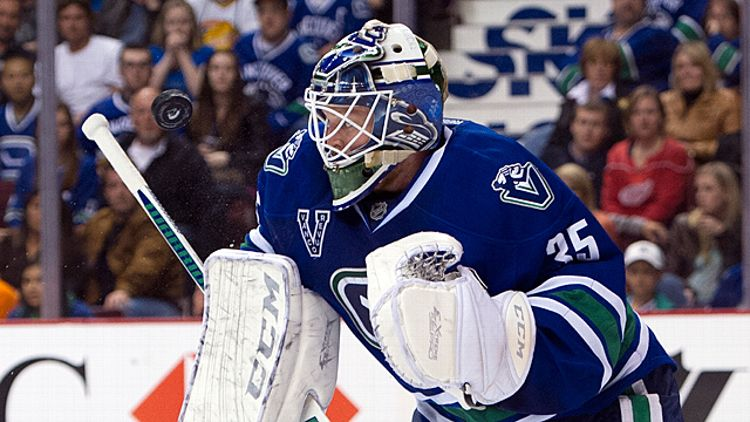 Goalie Cory Schneider #35 of the Vancouver Canucks