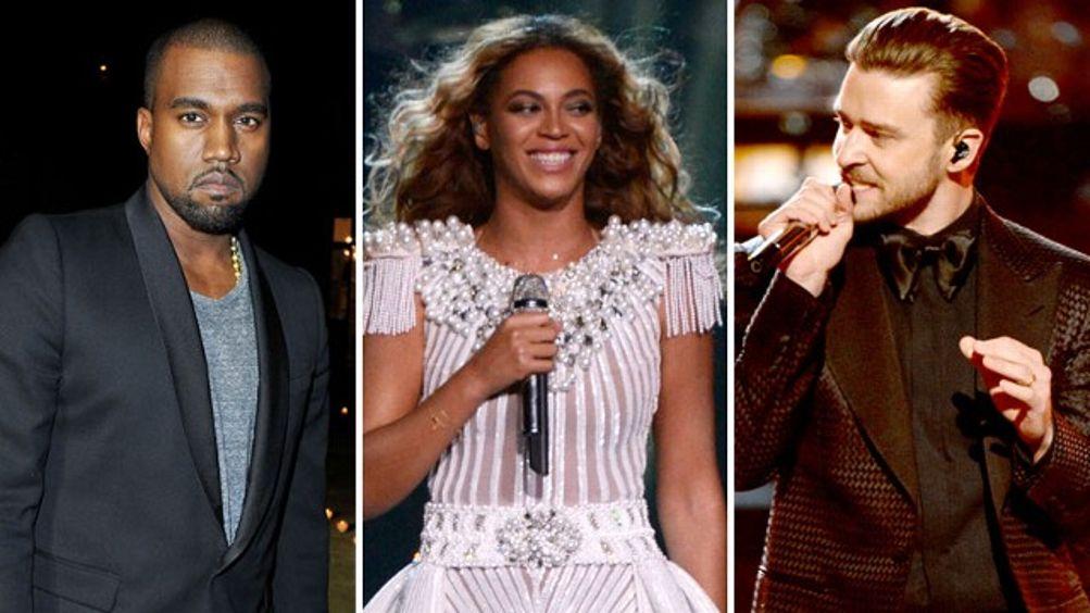 Kanye West, Beyonce, Justin Timberlake