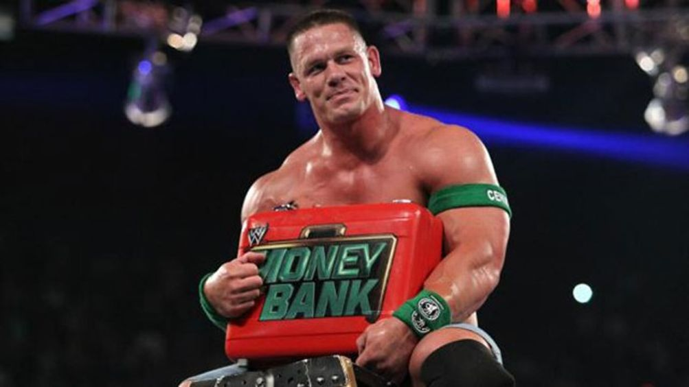 John Cena Money in the Bank - Courtesy of WWE