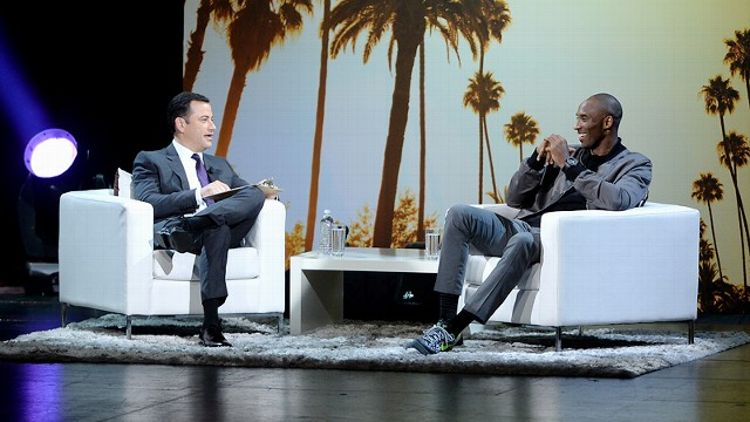Kobe Bryant with Jimmy Kimmel