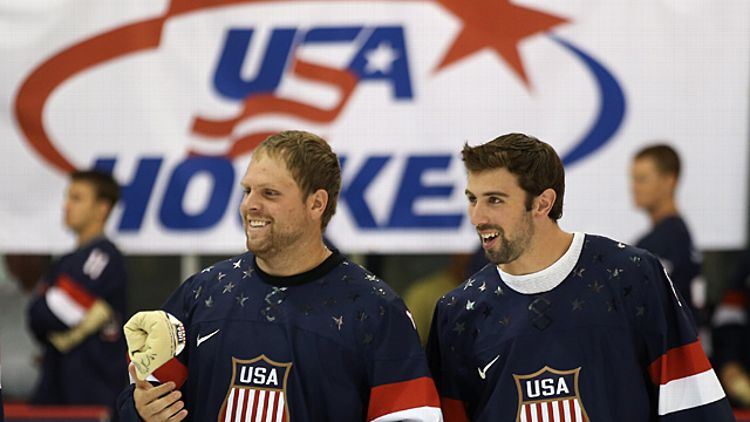 Phil Kessel and Nick Leddy
