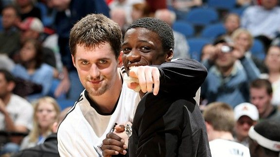 Kevin Love and Jonny Flynn