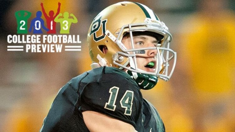Bryce Petty #14 of the Baylor University Bears throws a pass against the SMU Mustangs on September 2, 2012 at Floyd Casey Stadium in Waco, Texas.