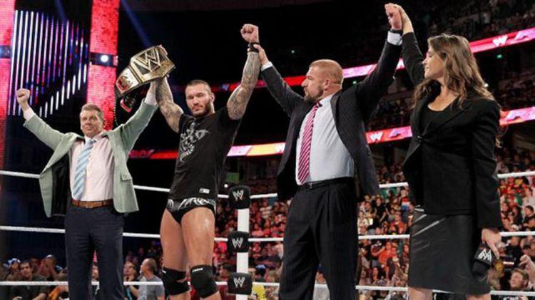 Vince McMahon, Randy Orton, Triple H, Stephanie McMahon