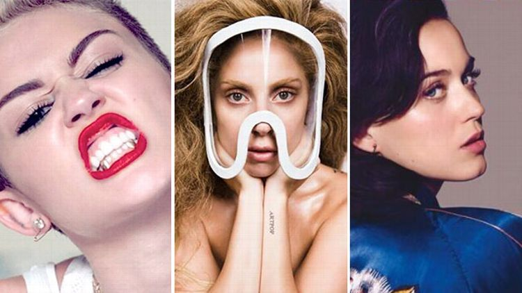 Miley Cyrus, Lady Gaga and Katy Perry
