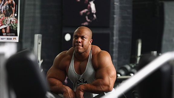Mr Olympia Phil Heath poses during a media call ahead of the 2012 IFBB Australian Pro Grand Prix XIII on March 16, 2012 in Melbourne, Australia.
