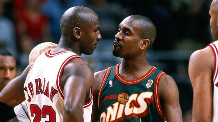 Michael Jordan and Gary Payton