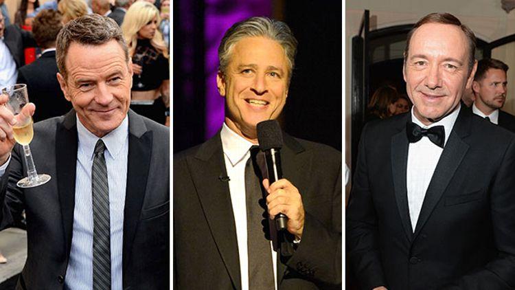 Bryan Cranston, Jon Stewart, Kevin Spacey
