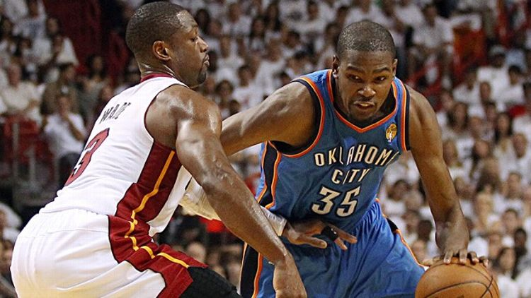 Dwyane Wade and Kevin Durant