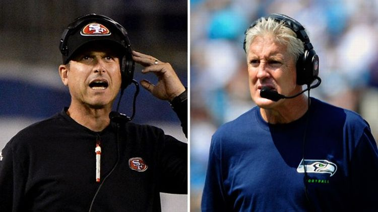 Jim Harbaugh, Pete Carroll