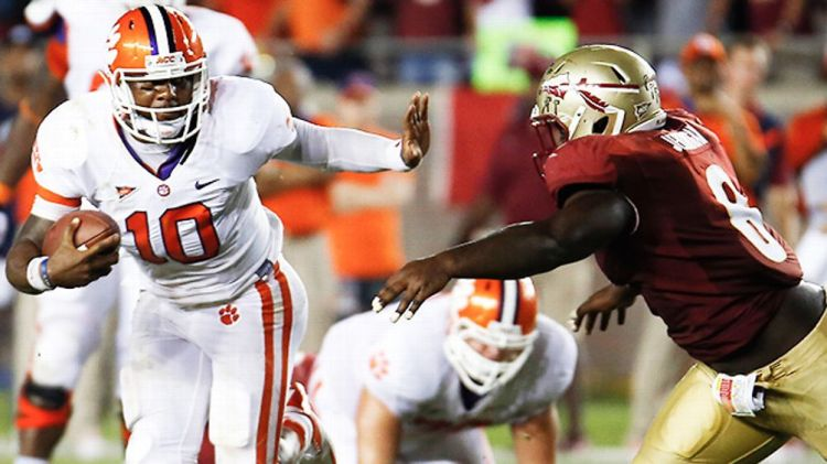 Clemson's Tajh Boyd versus Florida State