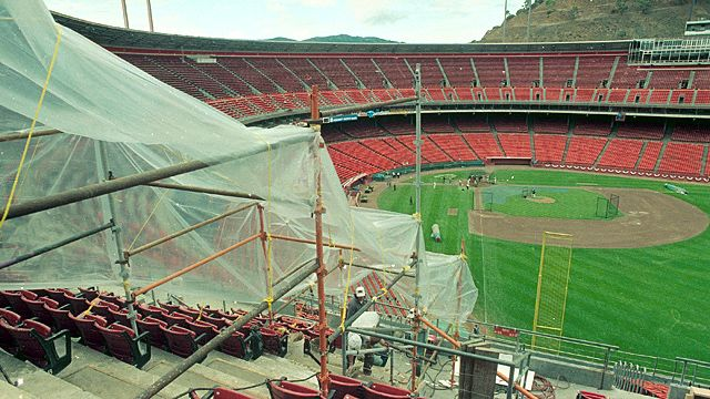 Repairs continue at Candlestick Park