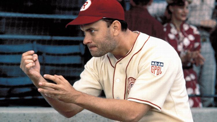 Tom Hanks in 'A League of their Own'
