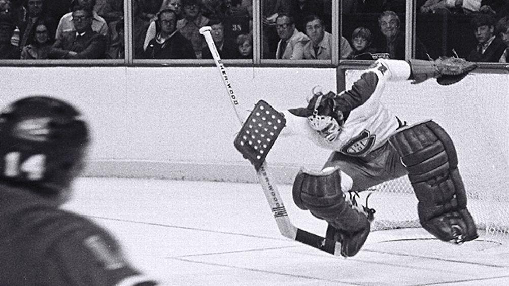 Ken Dryden #29 of the Montreal Canadiens