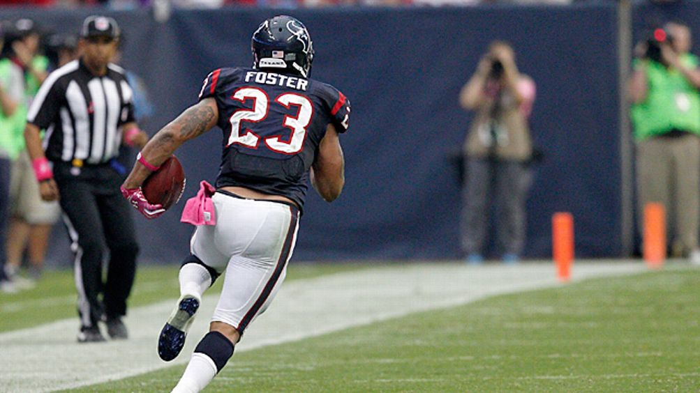Arian Foster #23 of the Houston Texans