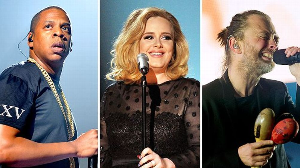 Jay-Z, Adele, and Thom Yorke