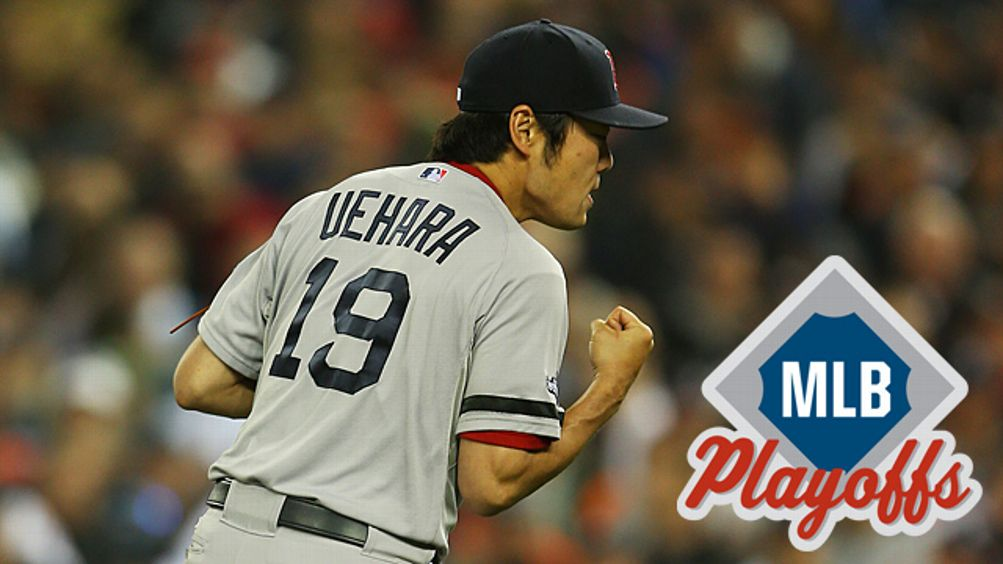 Koji Uehara #19 of the Boston Red Sox