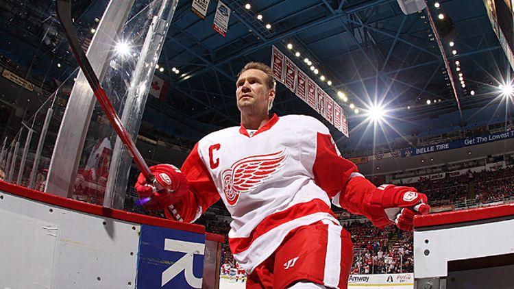 Nicklas Lidstrom #5 of the Detroit Red Wings