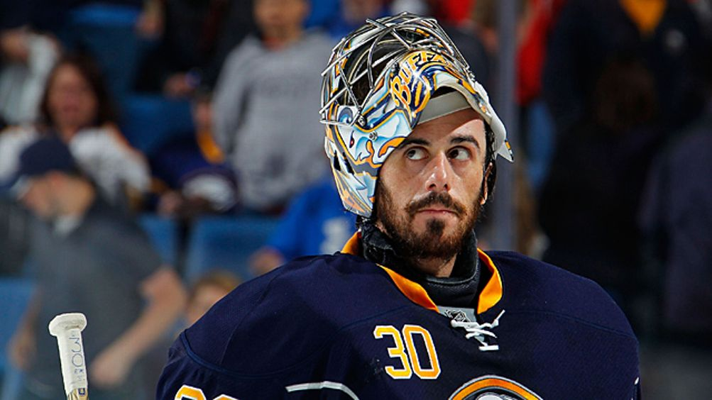 Ryan Miller #30 of the Buffalo Sabres