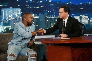 Jimmy Kimmel and Kanye West