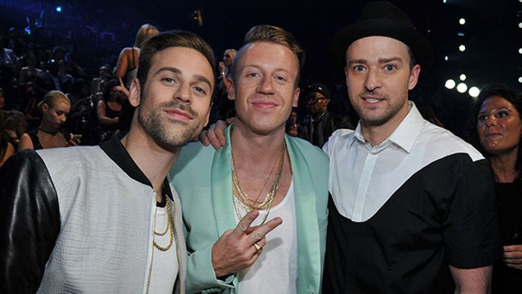 Macklemore, Ryan Lewis, and Justin Timberlake