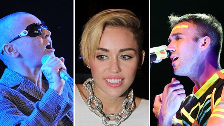 Sinead O'Connor, Miley Cyrus, and Sufjan Stevens