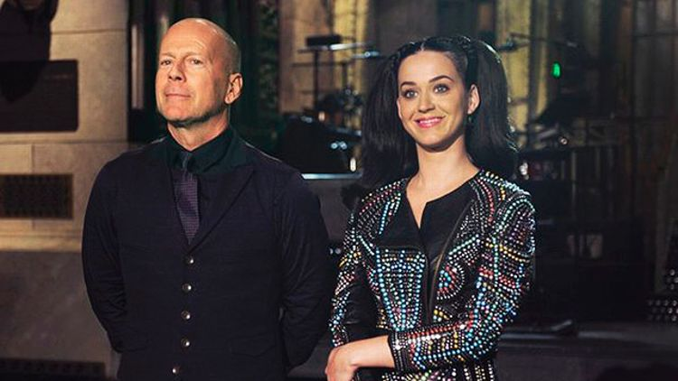 Bruce Willis and Katy Perry on SNL