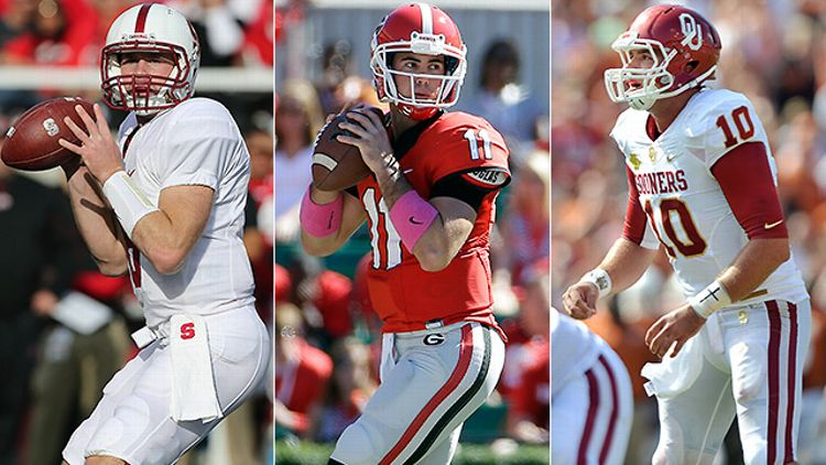 Quarterback Kevin Hogan, Aaron Murray, and Blake Bell