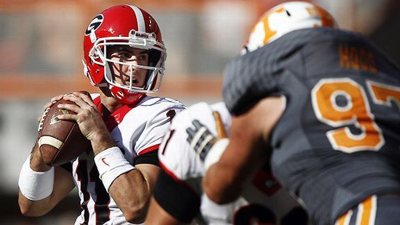 Georgia Bulldogs' quarterback Aaron Murray vs. Tennessee