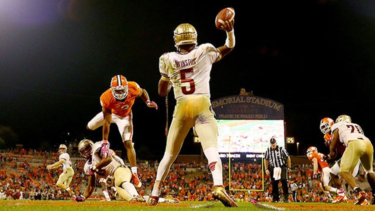 Florida State's Jameis Winston against Clemson