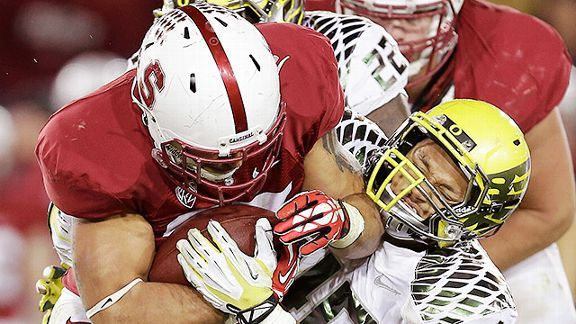 Stanford's Tyler Gaffney against Oregon
