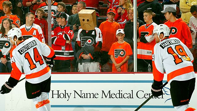 A Philadelphia Flyers fan