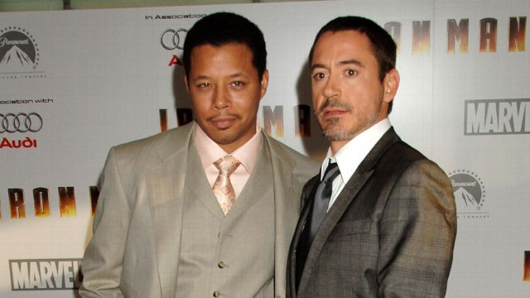 Terrence Howard and Robert Downey Jr
