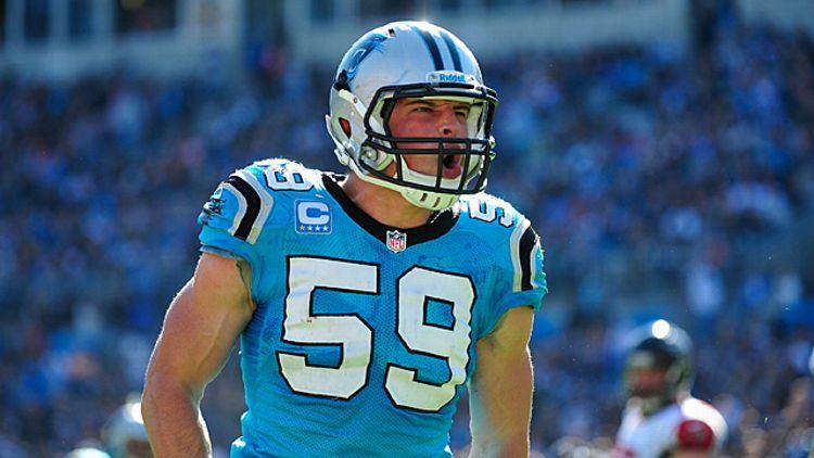 Luke Kuechly #59 of the Carolina Panthers