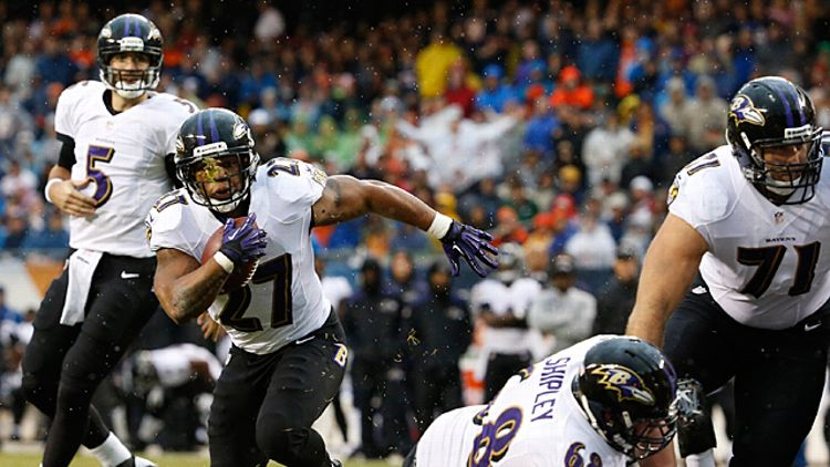 Ray Rice (27) of the Baltimore Ravens