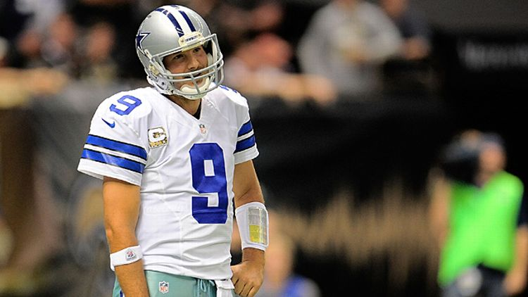 Tony Romo #9 of the Dallas Cowboys