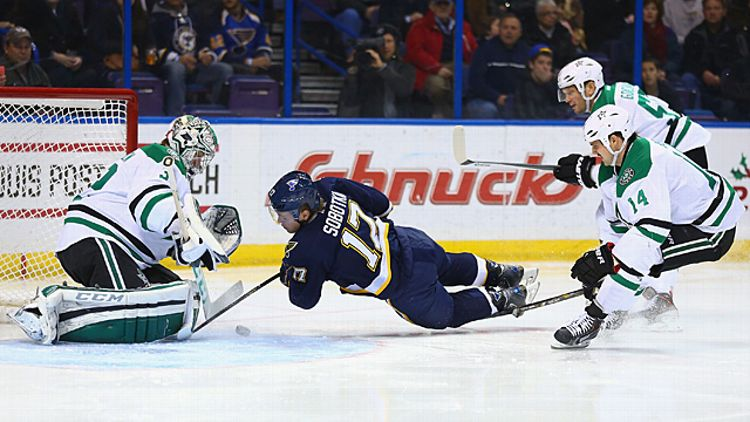 Vladimir Sobotka #17 of the St. Louis Blues