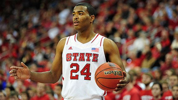 T.J. Warren #24 of the North Carolina State Wolfpack against the Stanford Cardinal during play at PNC Arena on December 18, 2012 in Raleigh, North Carolina. North Carolina State won 88-79.