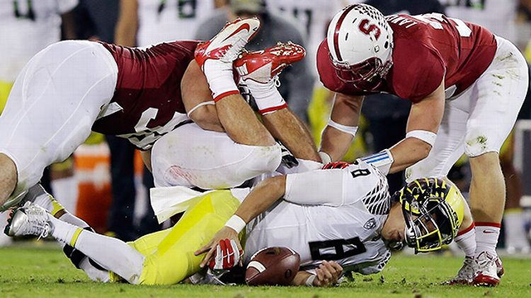 Stanford crushes Oregon's Marcus Mariota