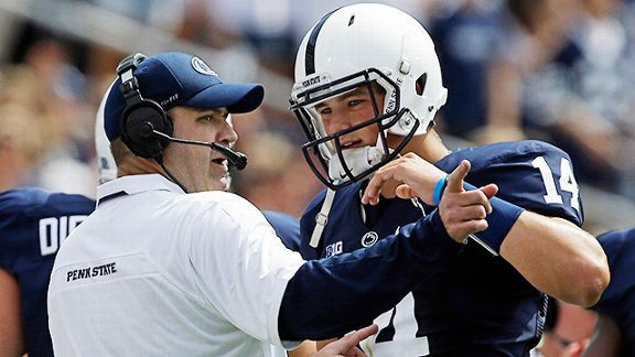 Penn State's Bill O'Brien and Christian Hackenberg