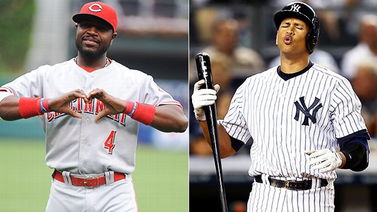 Brandon Phillips and Alex Rodriguez (Getty Images)