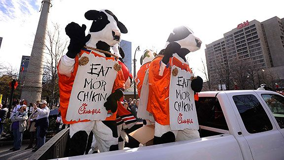 The 2012 Chick-fil-A Bowl parade (Chick-fil-A Bowl)