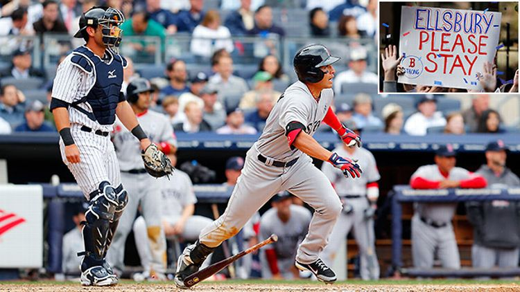 Jacoby Ellsbury faces the Yankees as a member of the Red Sox