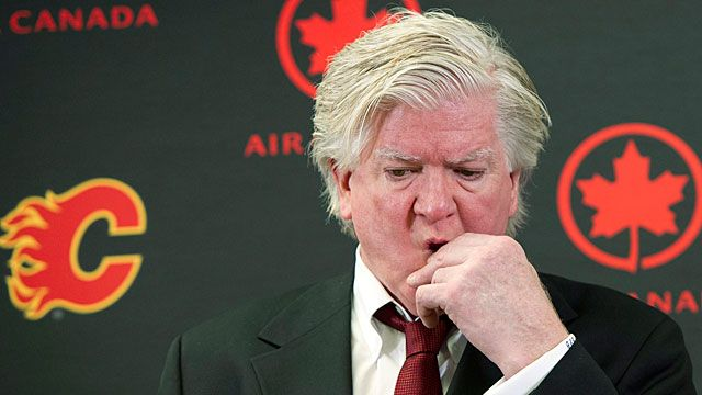 Brian Burke, Calgary Flames' president of hockey operations