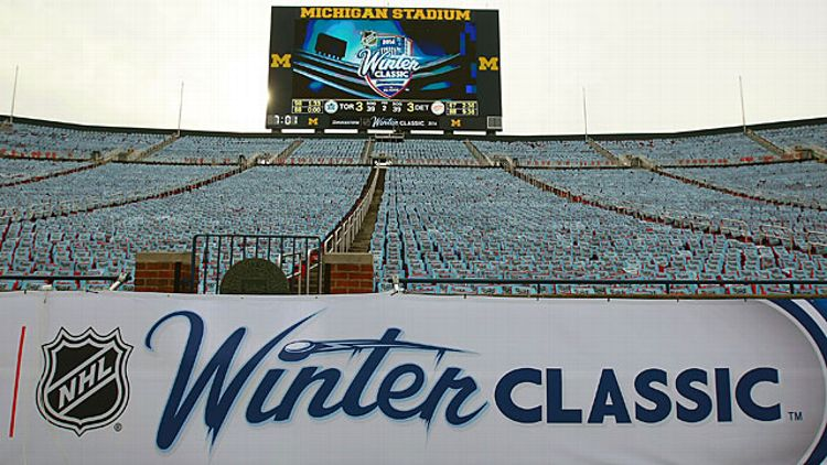 Bridgestone NHL Winter Classic sign