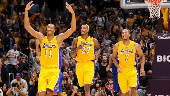 Wesley Johnson, Jordan Hill and Xavier Henry