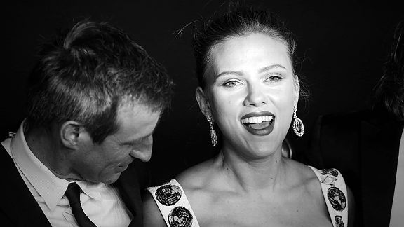 Spike Jonze and Scarlett Johansson