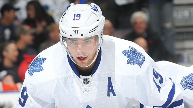 Joffrey Lupul #19 of the Toronto Maple Leafs