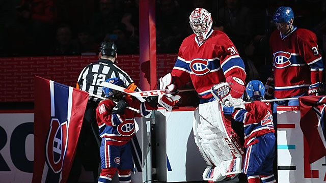 Carey Price #31 of the Montreal Canadiens