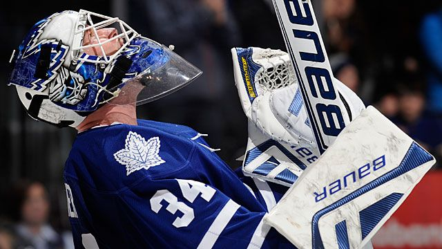 James Reimer #34 of the Toronto Maple Leafs